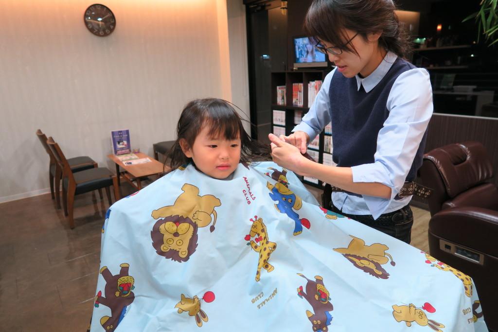 子供の散髪2